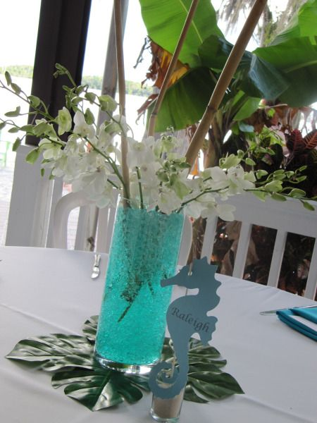 Orchid and Bamboo Centerpiece