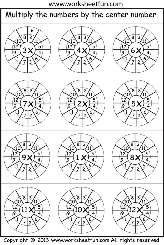 1-12 times table random worksheet | Printable Worksheets ...