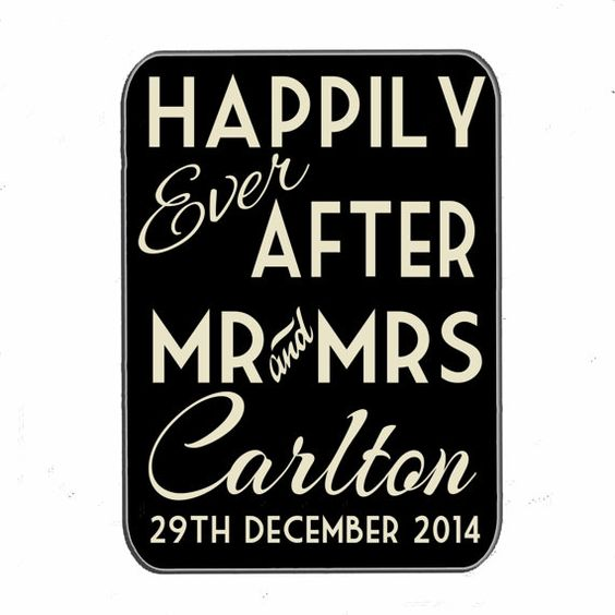 Personalised wedding sign Happily Ever After new by MikesRevivals, £10.00