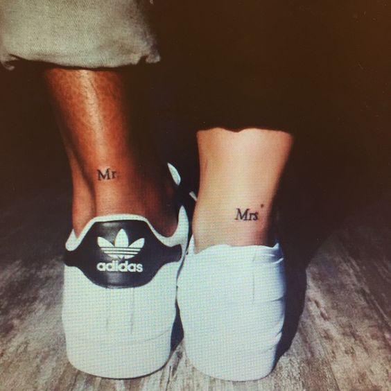 Mr & Mrs matching tattoos - I love this!