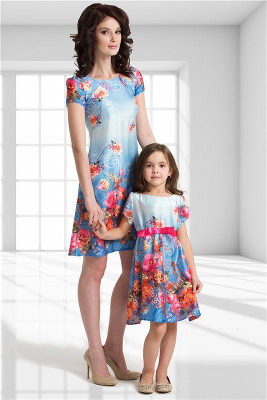 Модная одежда для мамы с дочкой
