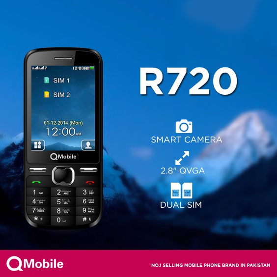 Want a simple and affordable handset?   QMobile happily announces R720, a communication experience that has never been seen before in just Rs.2,450/-  Get Details here: http://www.qmobile.com.pk/phone-r720.html