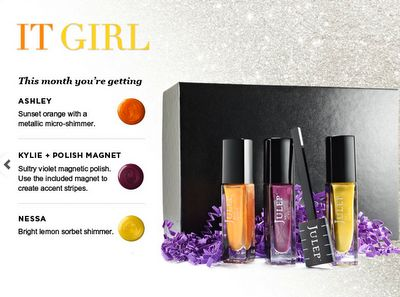 use code: COLORS4ONE to get all this for 1 PENNY (complete style quiz first)  http://julep.com/?r=19023025