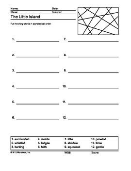 This 30 page theme unit for The Little Island, by Margaret Wise Brown includes a story summary, printable vocabulary worksheets to download, lesson plans, activities and more. Some of the additional resources are listed below.Crossword PuzzlesWord SearchSecret CodeMatching WorksheetsWord ScrambleThis module contains enough materials for a week-long exploration of The Little Island, by Margaret Wise Brown in the classroom.