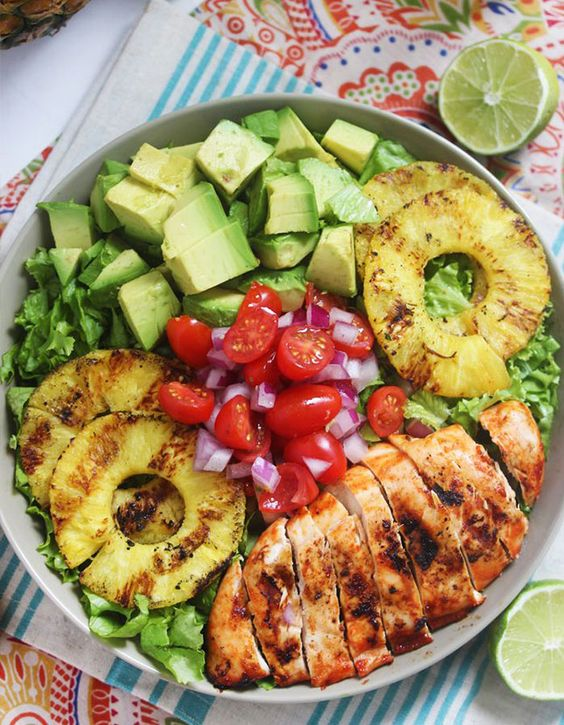 What's for dinner? Sriracha Lime Chicken Chopped Salad.