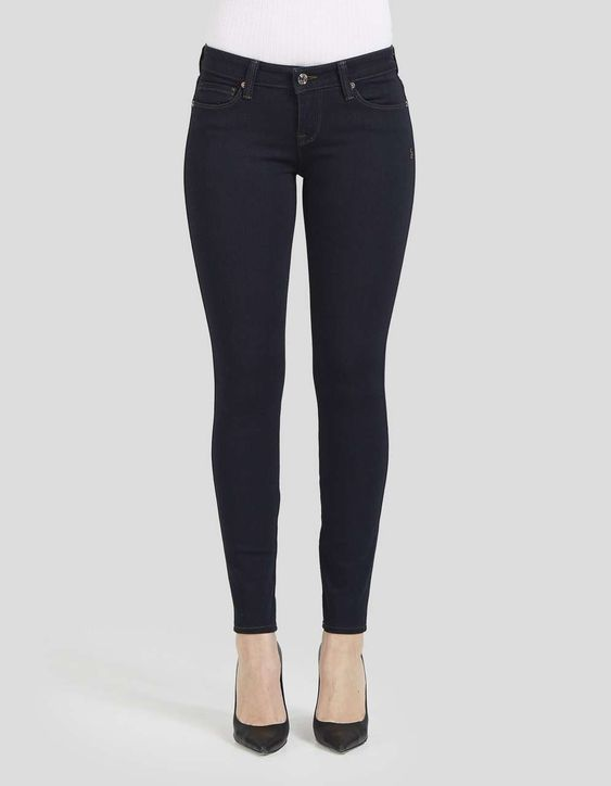 LOW WAIST ANKLE SKINNY Crawford in Maritime Blue | Fashion