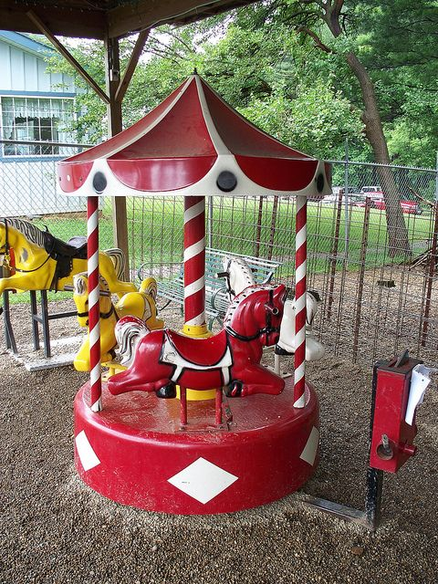 Reminds me of the one at K-Mart at 47th & Broadway in Wichita, KS!!   old coin carousels!!!