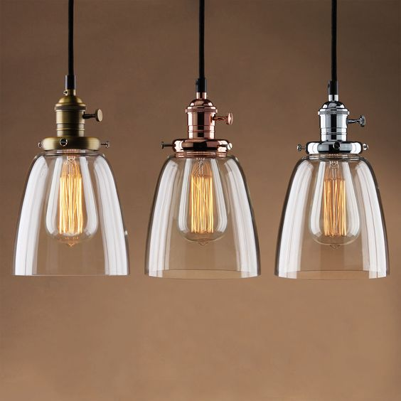 Details About ADJUSTABLE VINTAGE INDUSTRIAL PENDANT LAMP CAFE GLASS BRASS CHR