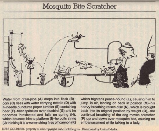 rube goldberg back scratcher - Google Search