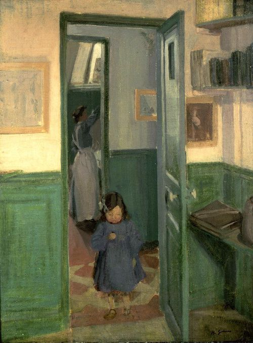 alongtimealone:  Gilman, Harold John (English, 1876-1919) - In Sickert's House - 1907 (by *Huismus)