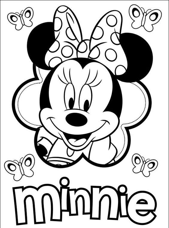Myszka Minnie 18 Pokoloruj ulubione postacie z bajek na