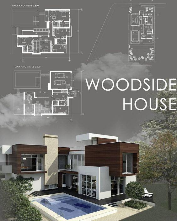 Plan gratuit de Maison contemporaine RT2012 u2013 Les Maisons du0027Aujourd