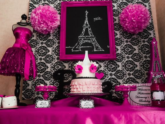 Decoracion Quincea?ero Paris ~ Photo 1 of 18 Paris Party  Birthday  Paris Party   Catch My Party