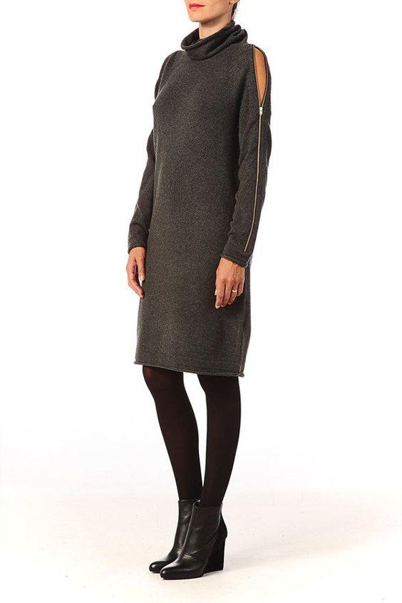 Pin for Later: Mode: La Robe Pull Sera Votre Allié Cet Hiver Robe Pull French…