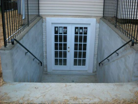 Walkout Basement French Door Before Cottage House