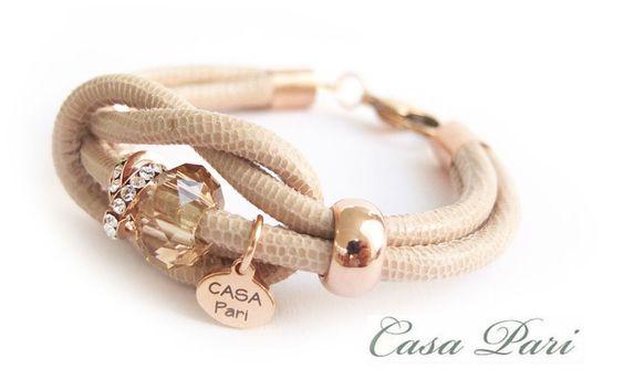 CASA Pari ®   NAPPA Leder Armband ★  MARYLIN  ★   von CASA Pari® auf DaWanda.com