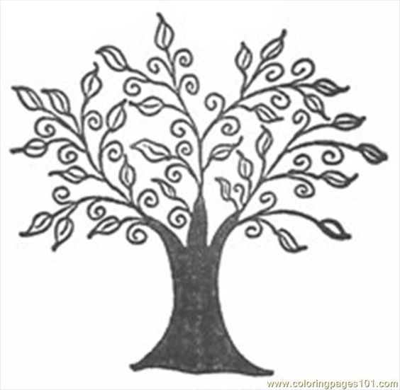 line art drawings of trees | free printable coloring page ...