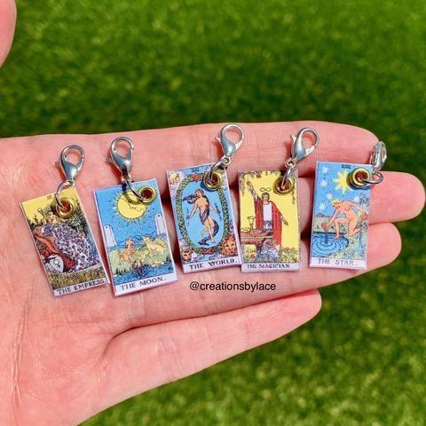 Mini Tarot Card Earrings