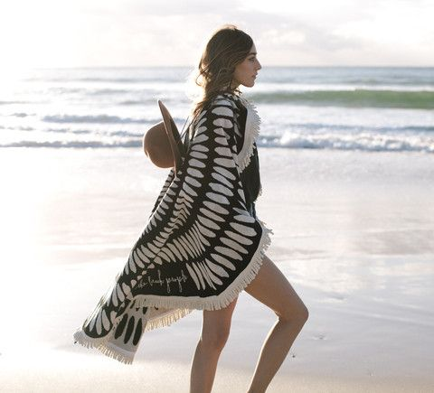 The Tulum Round Towel | The Beach People available from Salt Living  #thebeachpeople: