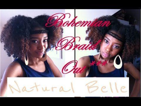 Admirable Tutorial Easy Bohemian Braid Out Youtube Ebony Hair Hairstyles For Women Draintrainus
