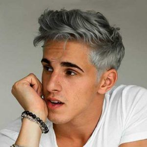 Haarfarbe männer graue Kurze Haare
