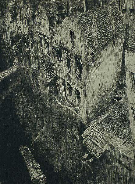 Old Canal (Vieux Canal) (also called, En Ville Morte) - JULES DE BRUYCKER (Belgian)