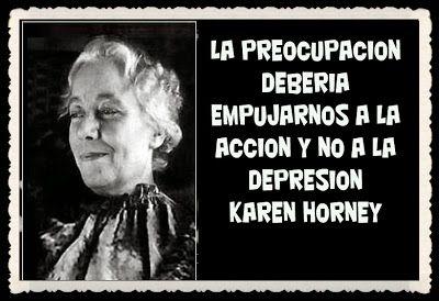 Karen Horney (Alemania, 1885 - Nueva York,  1952).Psicóloga y psicoanalista, es considerada la primera feminista psicoanalista. Contra Freud, gènere i cultura, contra enveja penis i sí enveja úter.