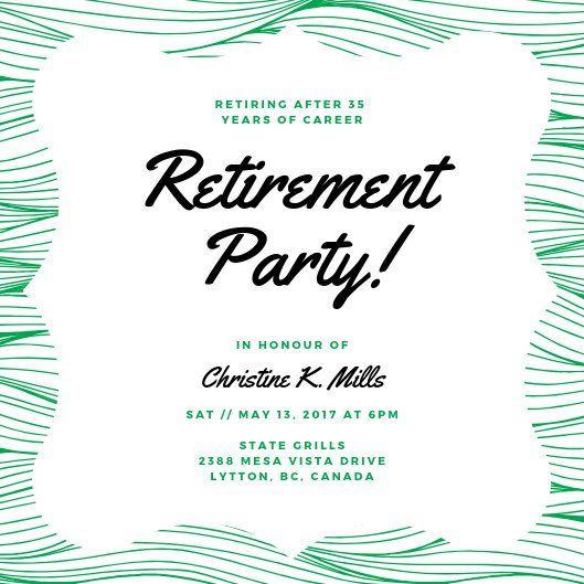 Foilage Retirement Party Invitation Templates By Canva Party Invite Template Dinner Invitation Template Retirement Party Invitations