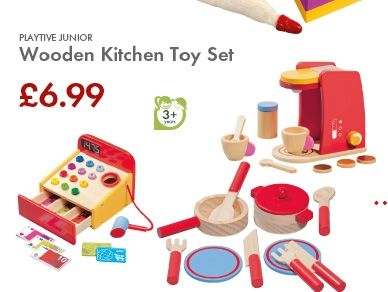 Playtive junior wooden kitchen toy set stuff to buy for Playtive junior cuisine