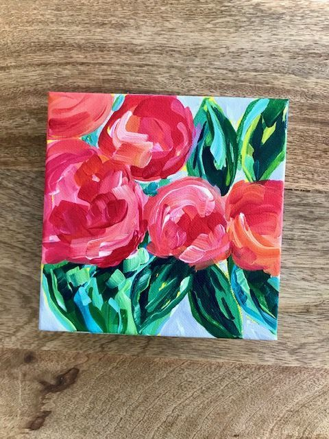 Easy Acrylic Flower Painting Tutorials Step By Step In 2020
