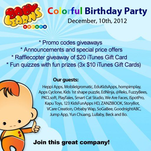 FuzzyBees first App Birthday Party hosted by Baby Learns