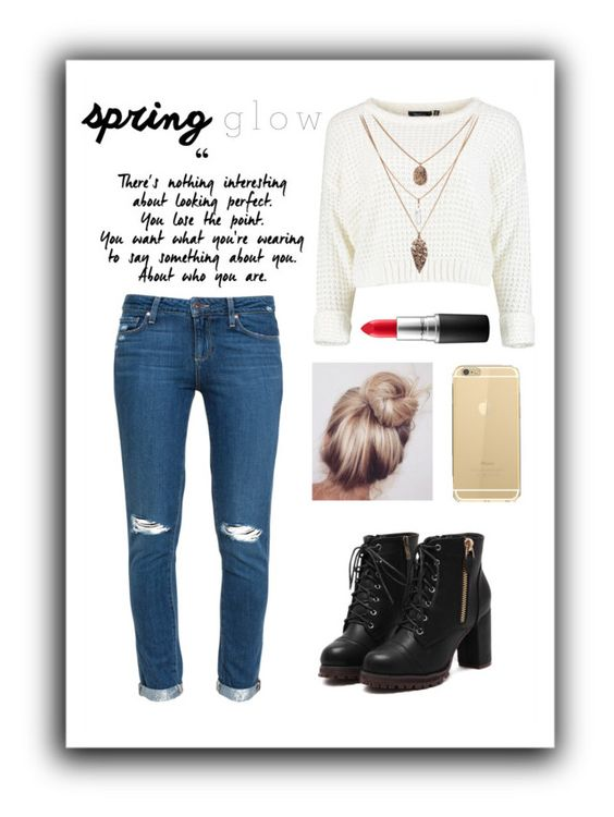 """""""Fall inspo-"""" by isabellabayona on Polyvore featuring MAC Cosmetics and Paige Denim"""