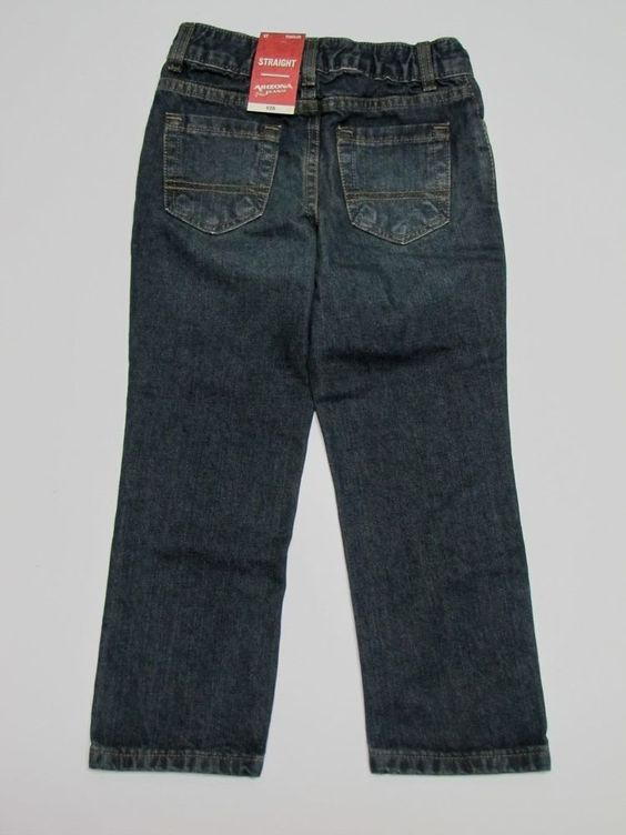NWT Arizona Straight Jeans 5T Dark Wash 39-43 Lbs #Arizona #StraightLeg…