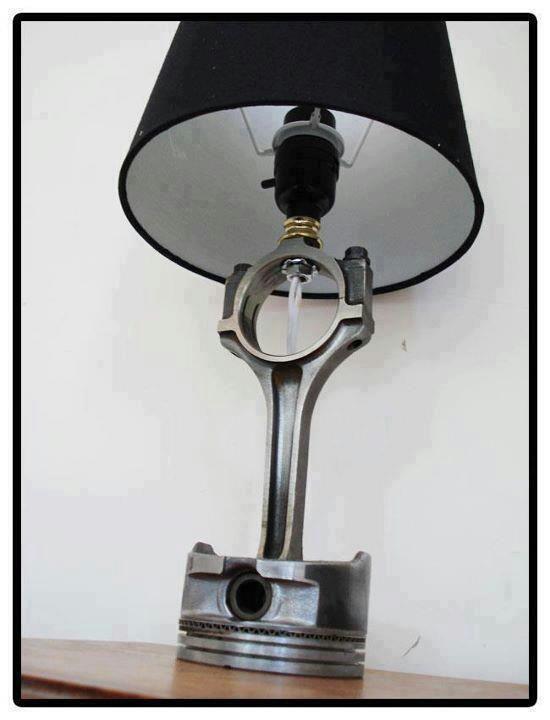 Piston Lamp Shade... mmm love industrial =)