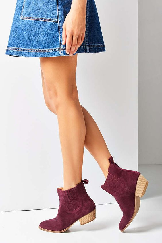 Maroon - July Chelsea Boot - Urban Outfitters