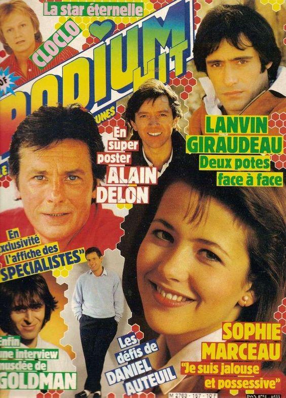 Couverture 1985#3 du magazine PODIUM HIT : (Claude François), Alain Delon, Bernard Giraudeau, Gérard Lanvin, Jean-Caques Goldman, Daniel Aut...