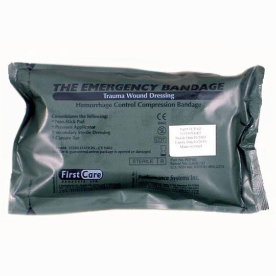Ever Ready First Aid Israeli Bandage Battle Dressing First Aid Compression Bandage, 6 Inch, 5 Ounce