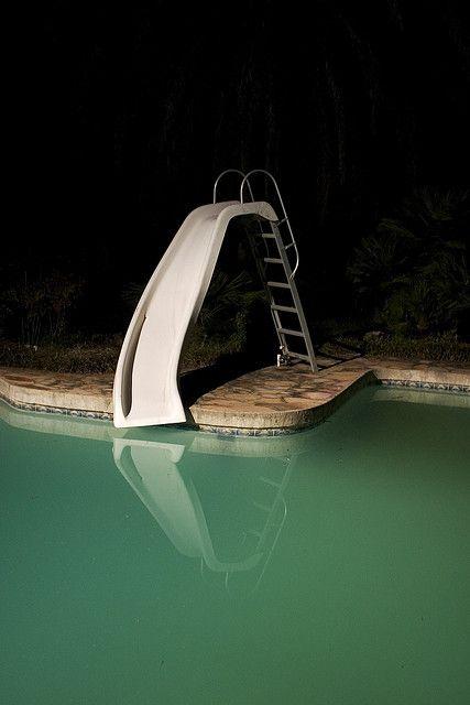 .: Childhood Memories Photography, Ground Pools, Night Photography, Pool Slides, Night Pool, Hate Pools, 70S Slide