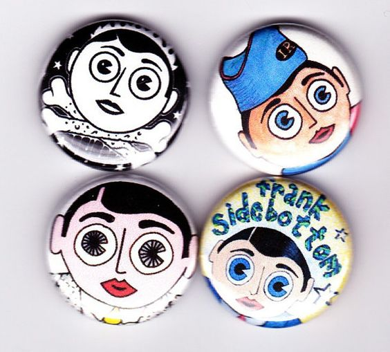 FRANK SIDEBOTTOM badges  set de 4  les freshies par YouCantGoBack