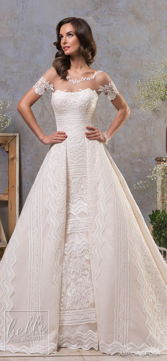 Amelia Sposa Fall 2018 Wedding Dresses #weddingdress #bridalgown #bridal #weddinggown #bridalcouture