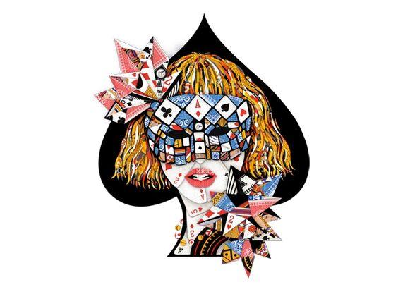 Gaga knows best.... Poker Face - Threadless