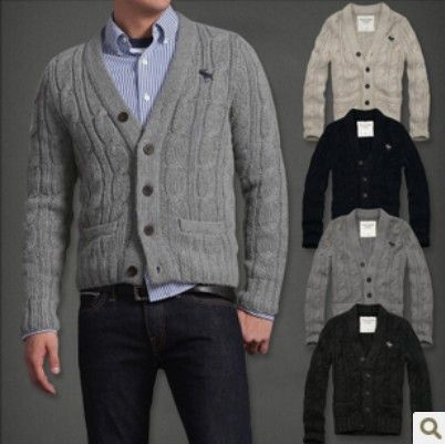 Abercrombie and Fitch Men&39s Sweater Coat....Old school swag