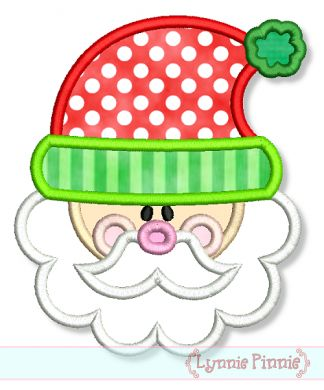 Embroidery Designs - Cute Santa Applique 4x4 5x7 6x10 7x11 - Welcome to Lynnie Pinnie.com! Instant download and free applique machine embroidery designs in PES, HUS, JEF, DST, EXP, VIP, XXX AND ART formats.