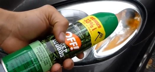 Cleaning Headlights With Mosquito Repellant Helps Them Become Brighter.#Automobile#Trusper#Tip