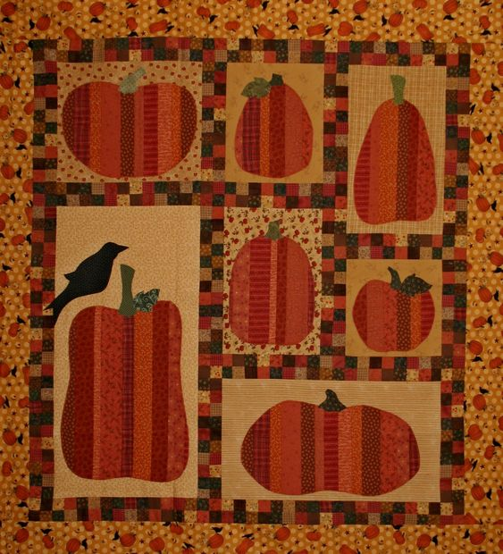 Crazy Old Ladies Quilts: Pumpkin Party