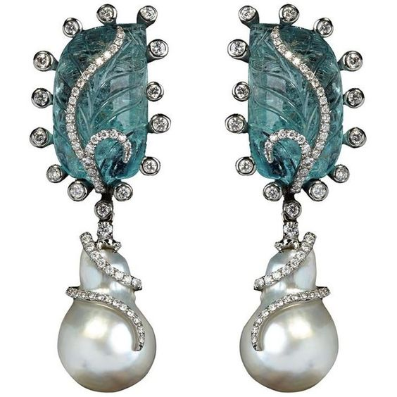 Annoushka One Of A Kind Pearl Earrings (328 870 ZAR) ❤ liked on Polyvore