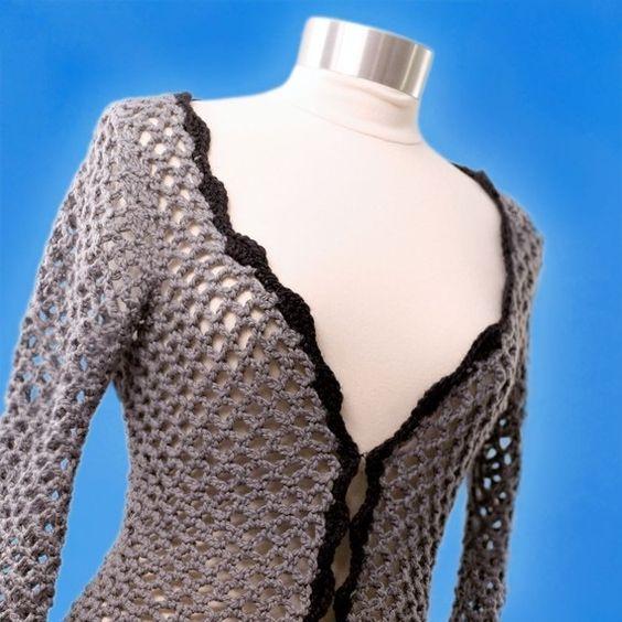 Crochet Stitches Open Work : ... Pattern--Openwork Sweater Crochet, Sweaters and Crochet Patterns