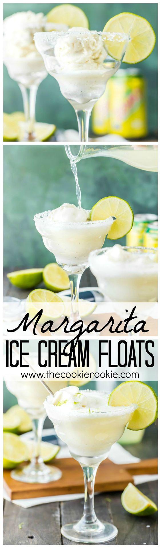 margarita ice cream floats pinterest