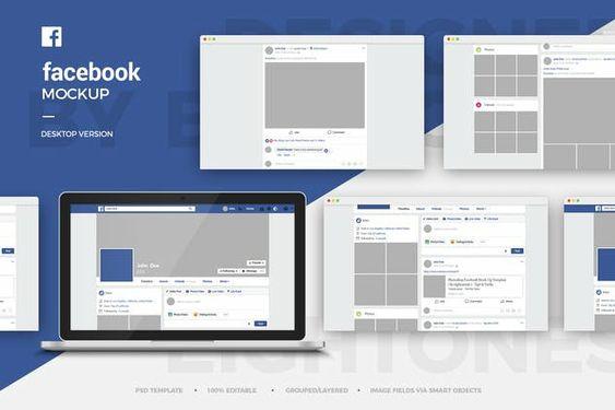 Facebook Desktop Mock Up Template Di 2020