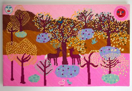 Needlepoint Canvases by Birds of a Feather at Purl Soho